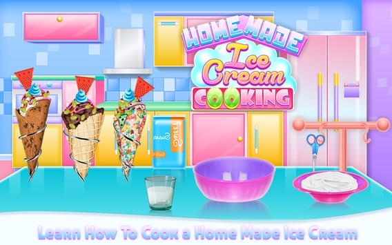 Homemade Ice Cream Cooking poster