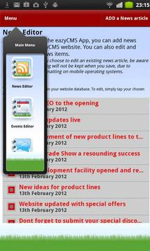 eazyCMS Mobile Website Editor apk screenshot