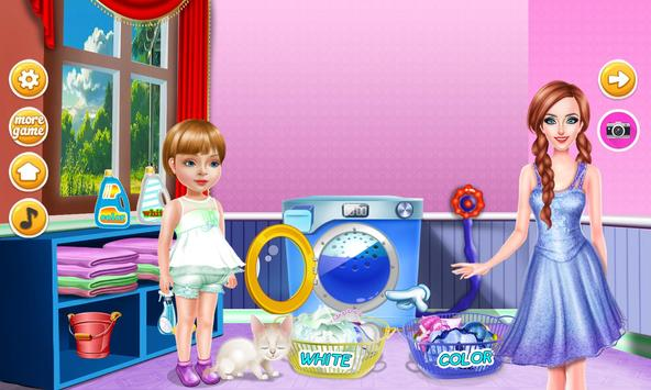 Wash laundry games for girls screenshot 4