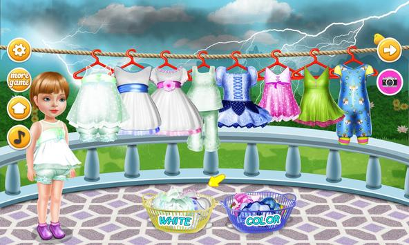 Wash laundry games for girls screenshot 5