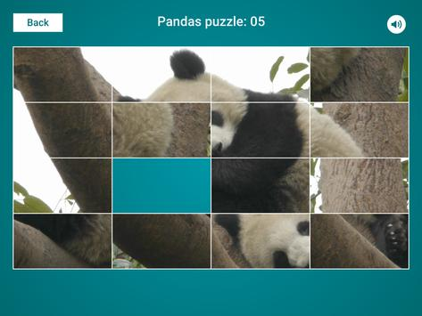 Pandas Sliding Jigsaw apk screenshot