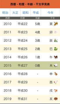 西暦・和暦・年齢・干支早見表 screenshot 1