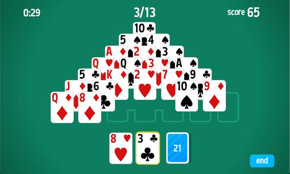 Pyramid Solitaire HD card game poster