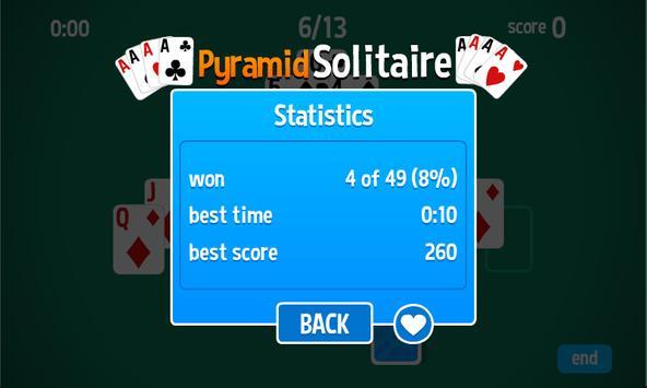Pyramid Solitaire HD card game apk screenshot