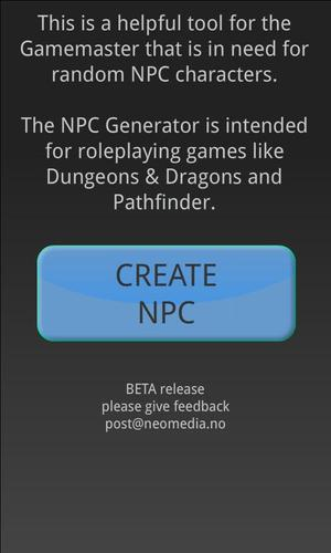 NPC Generator for Android - APK Download