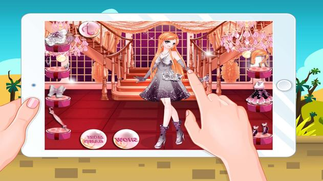 Anime Girls Games Dressup School-Girls games poster