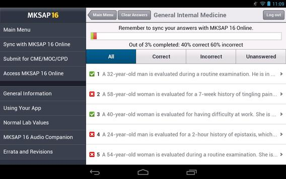MKSAP 16 Tablet Edition screenshot 3