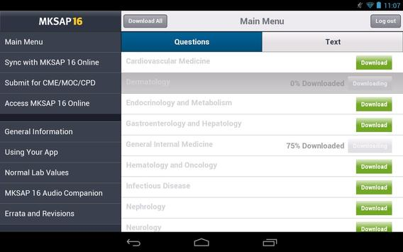 MKSAP 16 Tablet Edition screenshot 1