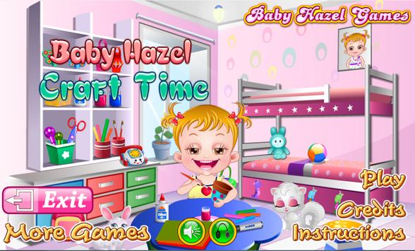 Baby Hazel Craft Time poster