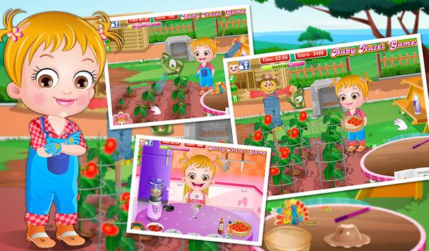 Baby Hazel Tomato Farming apk screenshot