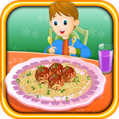 Cooking Cheesy Meatballs icon