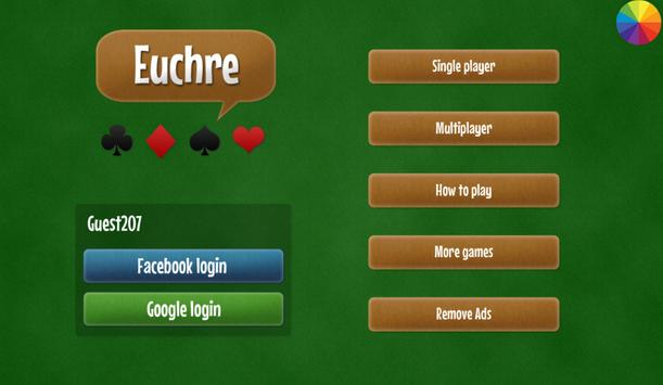 Euchre free card game poster