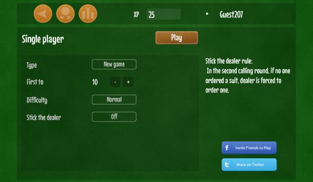 Euchre free card game apk screenshot