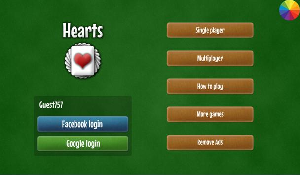 Hearts apk screenshot