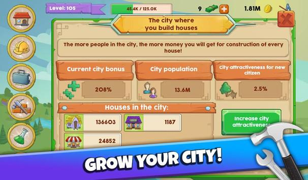 Make a City Idle Tycoon apk screenshot