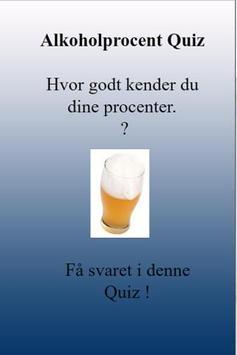 Alkohol % Quiz [Dansk] poster