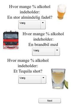 Alkohol % Quiz [Dansk] screenshot 1