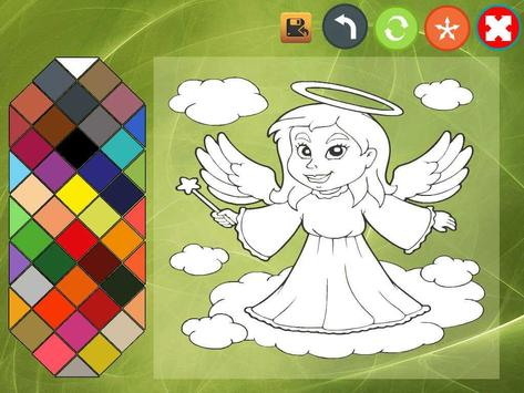 Angel coloring book screenshot 7