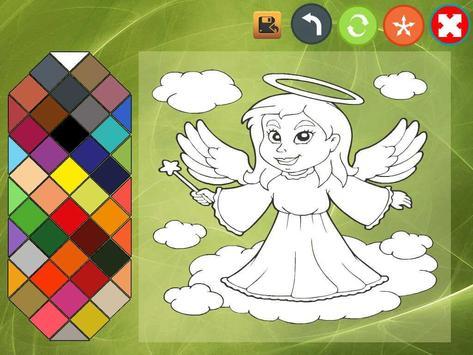 Angel coloring book screenshot 1