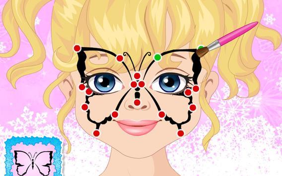 Polly Makes Butterfly Face Art apk screenshot