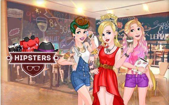 Awesome Princess Hipsters poster
