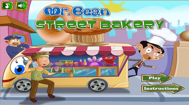 Mr Bean Street Bakery - Free games poster