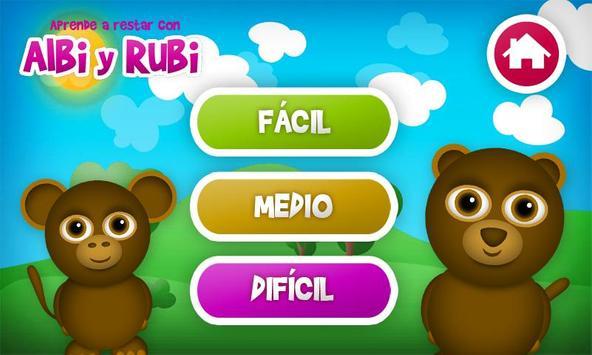 Aprender a Restar en Español apk screenshot