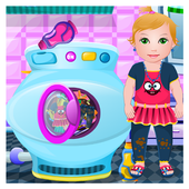 Baby Washing Clothes icon
