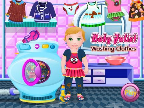 Baby Washing Clothes poster