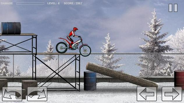 Bike Trial Snow Ride poster