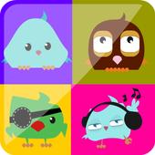 Memory game - Matching bird icon
