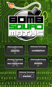Bomb Squad Maths poster