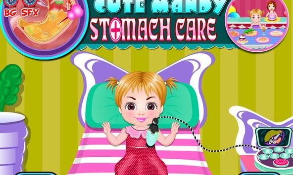 Cute mandy stomach care poster