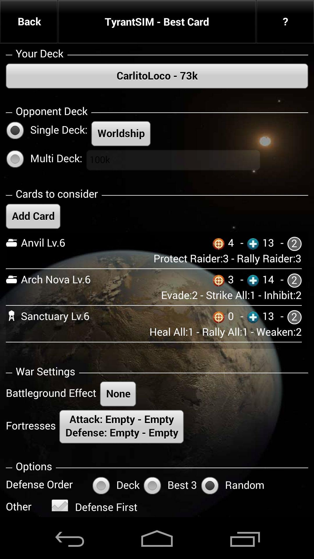 Tyrant SIM for Android - APK Download