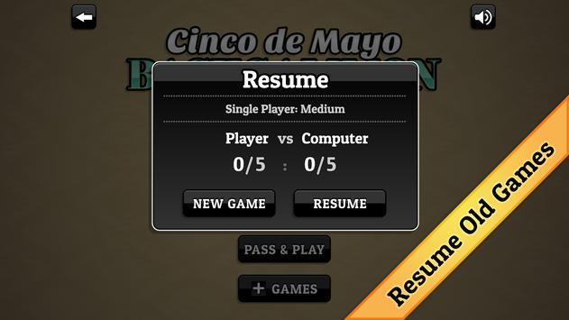 Cinco de Mayo Backgammon apk screenshot