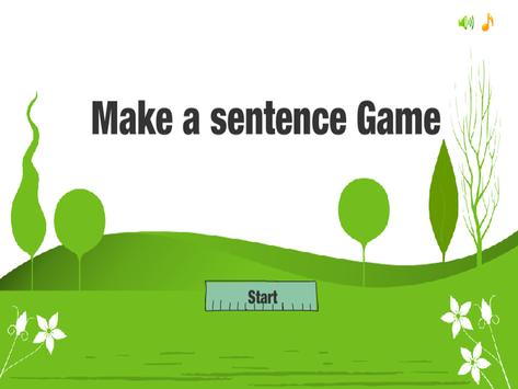 Sentence Game by ASL poster