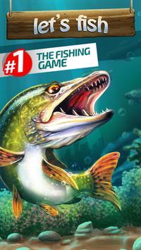 Let's Fish: Juegos de Peces. Simulador de Pesca. Poster