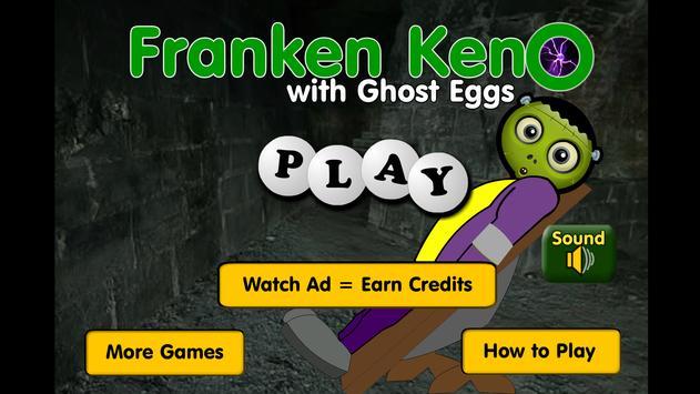 Franken Keno with Ghost Eggs - Tornadogames Games screenshot 1