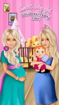 Sweet Baby Girl Newborn Baby poster