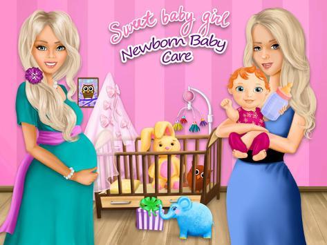 Sweet Baby Girl Newborn Baby apk screenshot