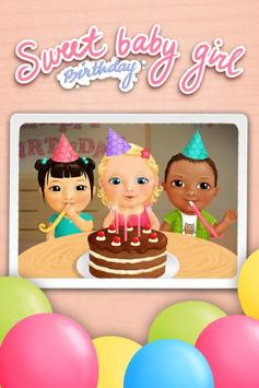 Sweet Baby Girl - Birthday poster