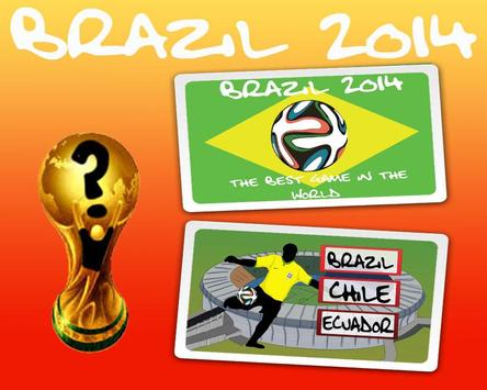 BRAZIL 2014 - FIFA WORLD CUP poster