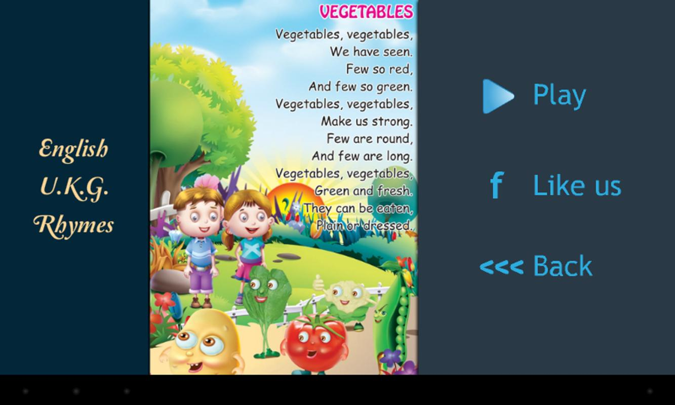 hindi rhymes for kg class pdf
