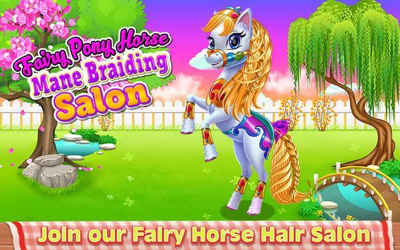 Fairy Pony Horse Mane Braiding Salon poster