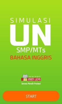 UNBK Bahasa Inggris SMP poster