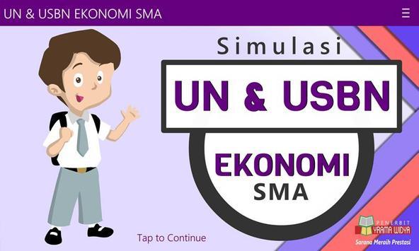 UN & USBN Ekonomi SMA/MA poster