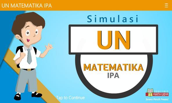 UNBK Matematika IPA SMA/MA poster