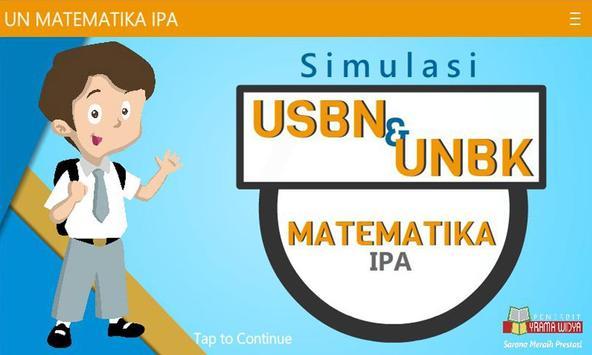 USBN & UN Matematika IPA SMA/MA poster