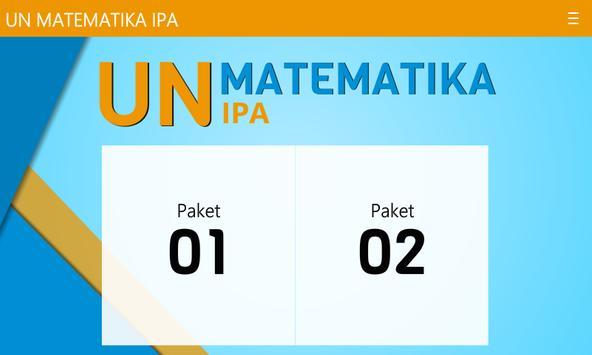 UNBK Matematika IPA SMA/MA apk screenshot