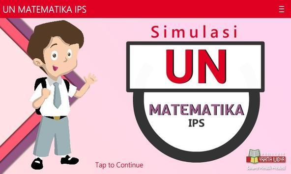 UNBK Matematika IPS SMA/MA poster